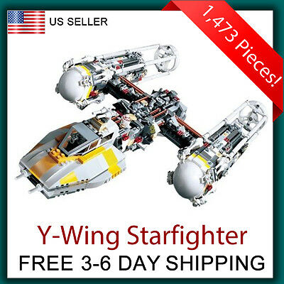 Y-Wing Starfighter - Compatible with Lego Star Wars Ywing Fighter 10134 UCS