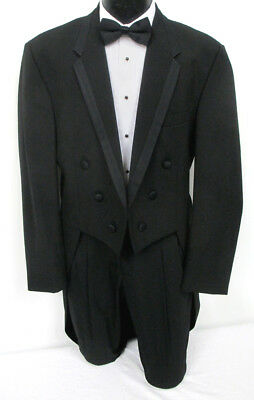 "Black Chaps Ralph Lauren ""Hudson"" Tuxedo Tailcoat Wedding Prom Mason Cosplay"