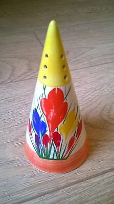 Clarice Cliff Crocus Sugar Shaker By Moorland Pottery Superb Reproduction