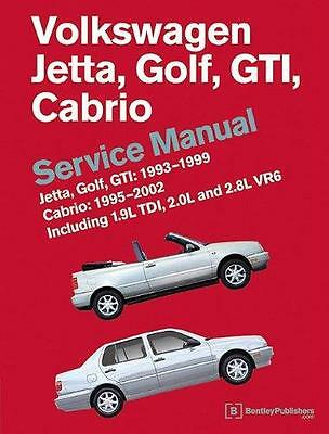 VW VOLKSWAGEN GOLF GTI CABRIOLET VR6 JETTA Owners Service Repair Manual Handbook