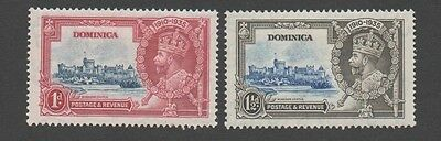 Dominica.  1935, 25th Anniversary of King George's Regency. 1p, 1 1/2p, MH