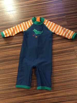 Crocodile John Lewis 9-12 Months All In One Sun Swim Suit UV Protection