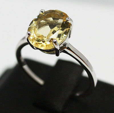 Anello  Argento 925 Manufatto Citrino Intrattato