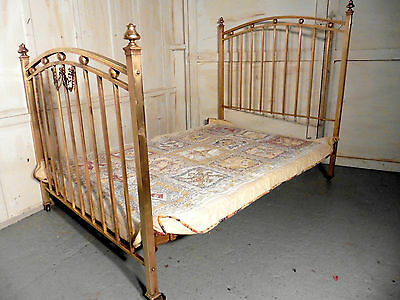 A Lovely Victorian Brass Double Bed