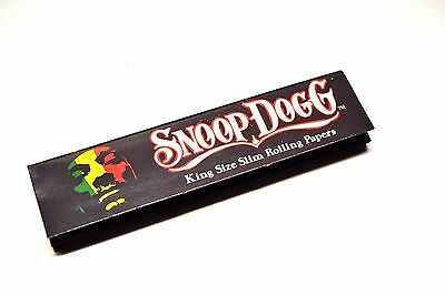 Snoop Dogg King Size Slim Rolling Papers Genuine Skins (33 Leaves per Pack)