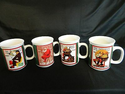 Saturday evening post Christmas mugs