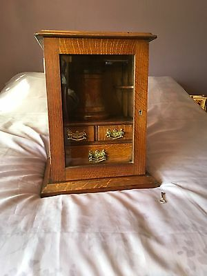 Edwardian Smokers Cabinet with Working Lock & Key