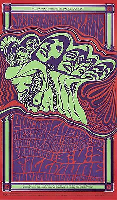 MINT Jefferson Airplane Quicksilver 1967 BG 48 Fillmore Poster