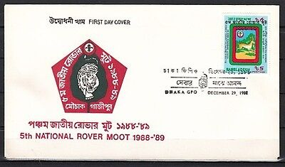+ Bangladesh, Scott cat. 321. Scouting issue on a First Day Cover.