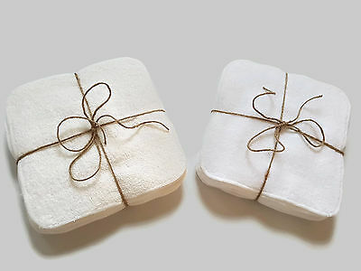 Bamboo Cotton Terry Wipes by MuslinZ 20x20cms Great Size 12 Pack
