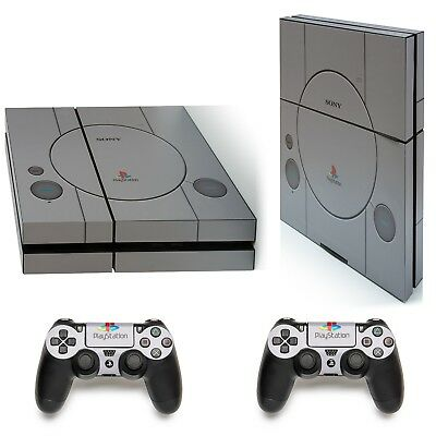 Old School PS1 Playstation 4 PS4 Protective Vinyl Decal Skin Sticker Cover Cons