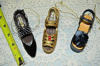 Three High Heeled Womens Shoes Christmas Ornament Decorations