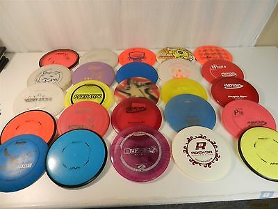 Lot of 25 Various Brands of Disc Golf Discs Drivers, Mid-Range, Putter