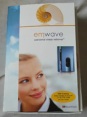 Emwave By Heartmath Personal Stress Reliever Relax Monitor Discrete 1-01 Works