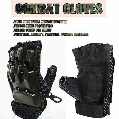 Paintball Gloves Airsoft Hunting Tactical Cycling Half Finger Armour Protection