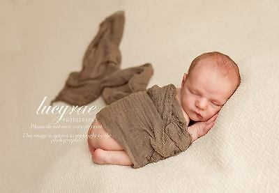 Hand Dyed Brown cheesecloth newborn baby wrap. Perfect photography photo prop