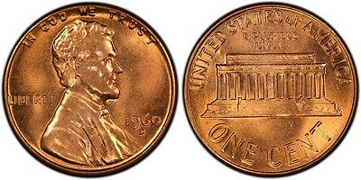 1960-D 1C Large Date RD Lincoln Cent