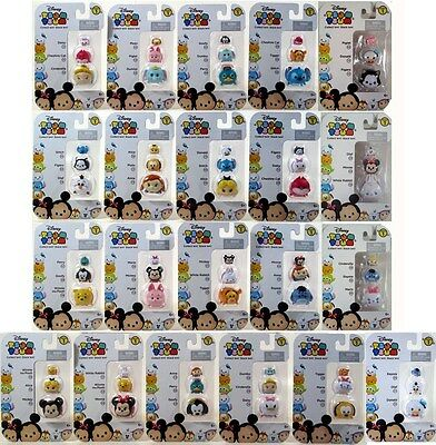Disney Tsum Tsum Lot of 21 Series 1 Stackers 3 Pack Vinyl Figure 63 Figure total