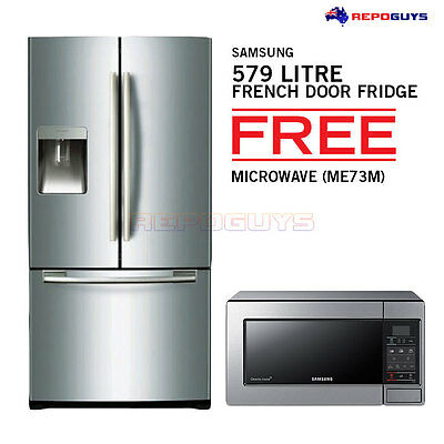 HOT DEAL Samsung French Door 579L Refrigerator Fridge Warranty Twin Cooling