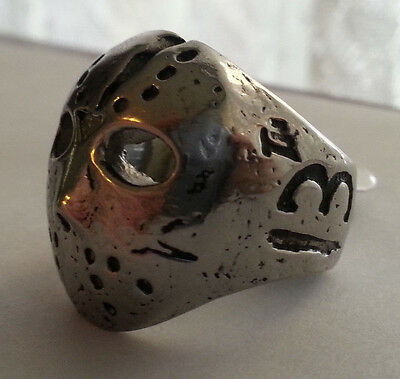Men's Biker Jason Voorhees Ring Friday the 13th Stainless steel Size 11