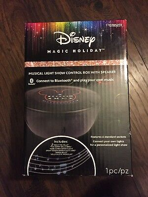 Gemmy DISNEY Magical Holiday Songs Musical Light Show Control Box Bluetooth  NEW