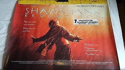 Shawshank Redemption original double sided movie uk quad poster