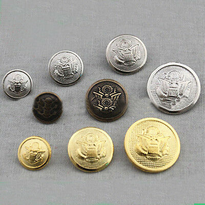 10pcs Metal Coat Buttons  Round Antique Classic Sewing DIY Craft Accessories