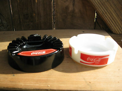 Vintage Pair of Coke Cola Ashtrays
