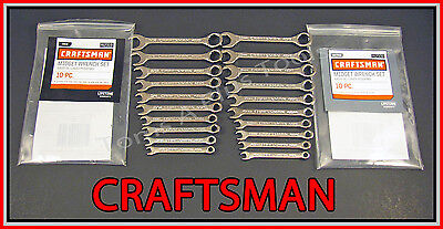 CRAFTSMAN TOOLS 20pc Full Polish IGNITION SAE & METRIC MM Wrench Set !!