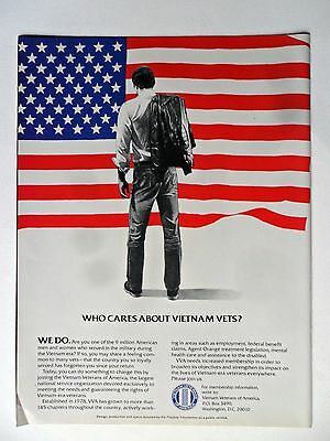 1985 Print Ad Vietnam Veterans of America ~ Who Cares About Vietnam Vets?