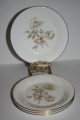 "Set of 4 Royal Doulton ""Yorkshire Rose"" Bread and Butter Plates"