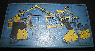 Vintage Popeye Pencil Box Eagle Brand c 1933 Wimpy Olive Oyl Swee Pea w/contents
