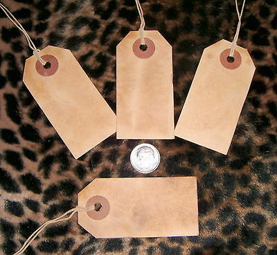 *****200****medium Primitive Hang Tags,grunged,vintage,coffee stained,  free S/H