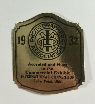 Poster Stamp - Photographers Assn., Commercial Convention, Cedar Point Ohio 1932