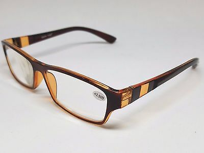 READING GLASSES with CLEAR LENS STRENGTH MEN WOMEN 1.0 1.25 1.5 2.0 2.5 3.0 3.5