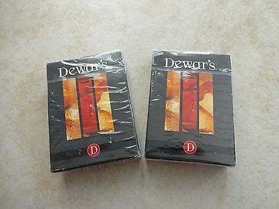 2- VTG Limited Edition DEWAR'S Scotch Whisky White Label Playing Cards *SEALED*