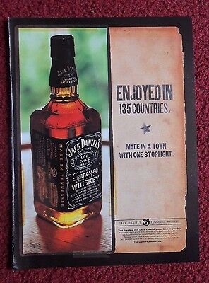 2001 Print Ad Jack Daniels Tennessee Whiskey ~ Enjoyed In 135 Countries
