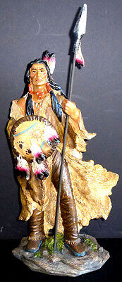 """VISION QUEST  Standing Native American  Indian  Statue Figure Western  H17.5"""""""