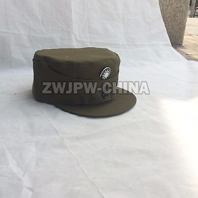 WWII Chinese KMT men outdoor hat with badge insignia canvas army green color cap