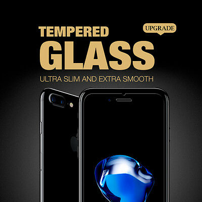 2 X CRAZY Premium Tempered Glass Screen Protector For Apple iPhone 7 plus