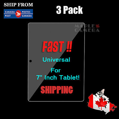 3x 7 inch Universal Screen Protective Protector Film For Android Tablet 193*115
