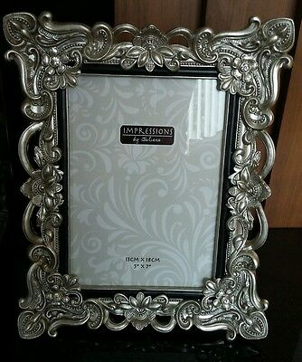 "Antique Vintage Shabby Chic Photo Frame & Crystals 5 x 7"". Perfect Gift"