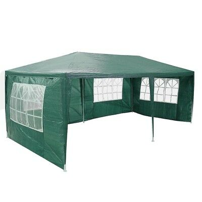 3 x 6 m Outdoor Folding Canopy Marquee Party Event Market Tent 4 Side Wall Green