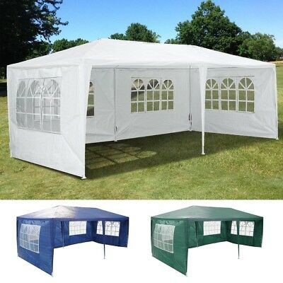 3x6m Outdoor Folding Canopy Marquee Party Wedding Event Market 4 Side Wall Tent