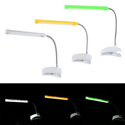 Clip-On USB Rechargeable 13 LED Reading Light Bed Desk Table Lamp Bulb Lights TP