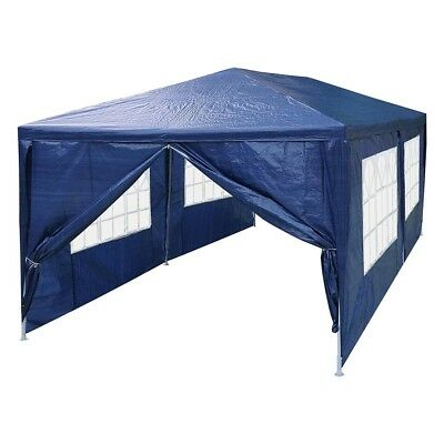 3 x 6 m Outdoor Folding Canopy Marquee Party Market Tent 6 Side Wall Blue