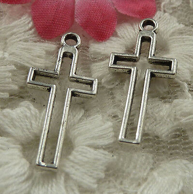 free ship 570 pieces Antique silver cross charms 23x11mm #4206