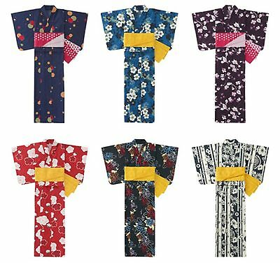 Uniqlo Women's Yukata Summer Kimono with Obi Casual Cotton Dress Japan One Size