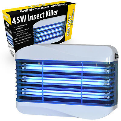 45W Industrial Electric UV Insect Killer Replacement Glue Paper Fly Bug Zapper