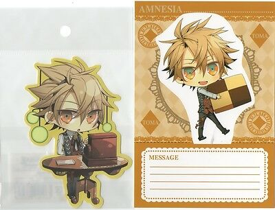 AMNESIA card & sticker set TOMA official product japan new!
